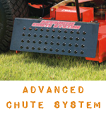 Advanced Chute System for zero turn mowers