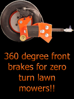 front brakes for zero turn lawnmowers